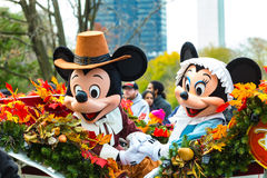 Mickey and Minnie in thePhilly Parade. Philadelphia, PA - November 24, 2016: Mickey and Minnie Mouse ride in a carriage in the annual Thanksgiving Day parade Stock Image