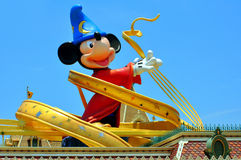 Mickey mouse. Huge statue of mickey mouse at the entrance of disneyland in hong kong Stock Photo