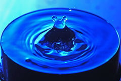 Mickey Mouse. Water drop in a cup Royalty Free Stock Image