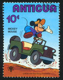 Mickey mouse. ANTIGUA - CIRCA 1980: stamp printed by Antigua, shows Disney Characters, Mickey mouse, circa 1980 Royalty Free Stock Images