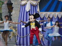 Mickey mouse with belly dancers at Disneyland Stock Image