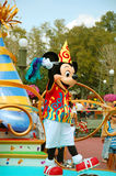 Mickey Mouse. Dancing with the crowd during the midday parade in Disneyworld, Orlando Stock Image