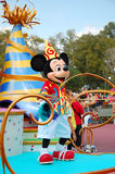 Mickey Mouse. Dancing with the crowd during the midday parade in Disneyworld, Orlando Royalty Free Stock Image