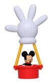 Mickey Mouse dans son ballon à air chaud Photographie stock libre de droits