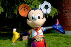 Mickey Mouse in der Sportreihe Stockbild