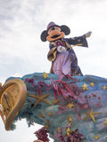 Mickey Mouse at Disneyland Paris. Mickey Mouse on his 20th Anniversary float during Disney Magic on Parade at Disneyland Paris Stock Photography