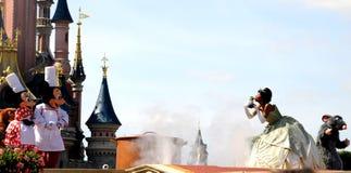 Mickey Mouse e la principessa leggiadramente Fotografie Stock Libere da Diritti