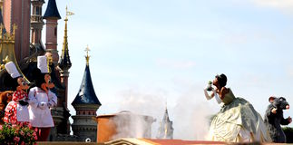 Mickey Mouse e a princesa feericamente Fotos de Stock Royalty Free