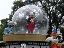 Mickey Mouse Parade Float in Disney World. royalty free stock images