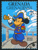 Mickey mouse. GRENADA - CIRCA 1979: stamp printed by Grenada, shows Walt Disney characters, Mickey mouse, circa 1979 Royalty Free Stock Images