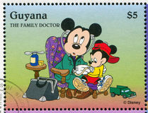 Mickey Mouse. GUYANA - CIRCA 1995: stamp printed by Guyana, shows Walt Disney characters, Mickey Mouse, circa 1995 Royalty Free Stock Images