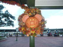Mickey Mouse halloween decoration at the magic kingdom Royalty Free Stock Images