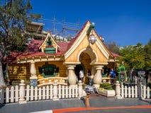 Mickey Mouse hus i Toontown, Disneyland Arkivbild