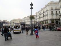 Mickey Mouse i Puerta del Sol i Madrid Spanien Europa Arkivfoto