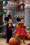 Mickey Mouse and Minnie Mouse during halloween celebrations at Disneyland Paris Royalty Free Stock Image