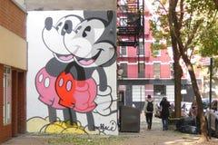 Mickey Mouse Mural Royalty-vrije Stock Afbeeldingen