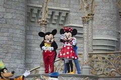 Mickey Mouse och Mini Mouse On Stage på den Disney världen Orlando Florida arkivbild