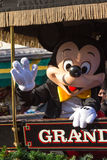 MICKEY MOUSE ON PARADE IN CAR Royalty Free Stock Image