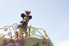 Mickey mouse parade. TOKYO, JAPAN - APR 18 : Mickey Mouse in Jubilation Parade at  at Tokyo Disneyland on Apr 18, 2012 in Tokyo, Japan Stock Photography