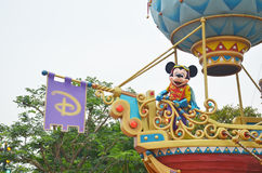 Mickey Mouse riding on a float Royalty Free Stock Photo