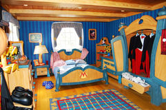 Mickey Mouse's Bedroom at Disneyworld Royalty Free Stock Photos