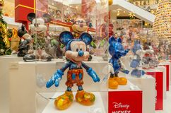 Mickey Mouse`s figurines Christmas decoration in Pavilion Kuala Lumpur royalty free stock images