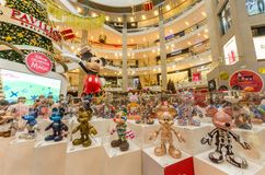 Mickey Mouse`s figurines Christmas decoration in Pavilion Kuala Lumpur royalty free stock photos