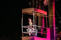 Mickey Mouse sailing on Fantasmic show at Hollywood Studios at Walt Disney World 1 stock image