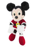 Mickey mouse santa claus suit isolated white background Royalty Free Stock Photo