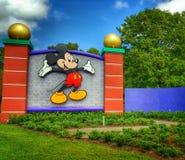 Mickey Mouse Sign on Buena Vista Dr. in Orlando, FL. Orlando Florida Buena Vista Walt Disney World Resort entrance sign Mickey Mouse theme park entertainment Royalty Free Stock Photo