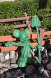 Mickey Mouse statue in Cactaceae Stock Images