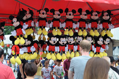 Mickey mouse stuff toys on display Royalty Free Stock Photography