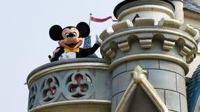Mickey Mouse su una parata fotografie stock