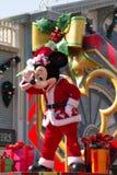 MICKEY MOUSE viert het Nieuwjaar van Kerstmis Stock Foto's