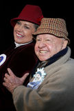 Mickey Rooney and wife Jan Rooney Royalty Free Stock Photo
