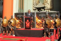 Mickey Rourke. At a Hand and Foot Print Ceremony for , Chinese Theater, Hollywood, CA 10-31-11 Stock Images