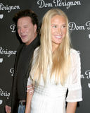 Mickey Rourke, Kelly Lynch Stock Photos