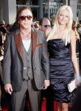 Mickey Rourke och Anastassija Makarenko royaltyfri bild