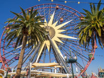 Mickey's Fun Wheel at Disney California Adventure Park. ANAHEIM, CALIFORNIA - FEBRUARY 13: Mickey's Fun Wheel at Paradise Pier in Disney California Adventure Stock Images