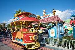 Mickey's Toontown at Disneyland. Photo of the Toontown train Royalty Free Stock Image