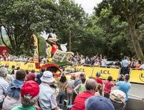 Mickey samochodu tour de france 2015 Zdjęcie Royalty Free