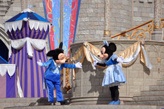 Mickey und Minnie Maus in der Disney-Welt Stockfoto