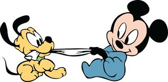Mickeybaby pluto Stock Afbeeldingen