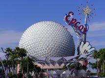 Mickeys centrerar den magiska wanden på Epcot, Orlando Arkivbilder