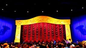 Mickeys philhar teater för magi 4d på disneyland, Hong Kong Royaltyfri Foto