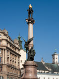 Mickiewicz column in Lviv Stock Photo