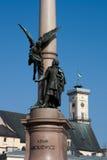 Mickiewicz Denkmal in Lviv Stockbild