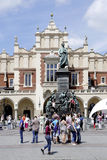Mickiewicz Monument of Krakow in Poland Stock Images