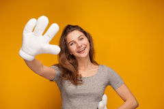 Micky Mouse hand Stock Photos