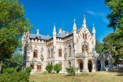 Miclauseni城堡在罗马尼亚 库存照片